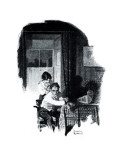 """A Love Story"" page 11 Giclee Print by Norman Rockwell"
