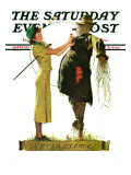 """Springtime, 1936"" Saturday Evening Post Cover, April 25,1936 Giclee Print by Norman Rockwell"