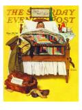 """Willie Gillis Home on Leave"" Saturday Evening Post Cover, November 29,1941 Impression giclée par Norman Rockwell"