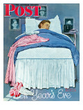 """New Year's Eve"" Saturday Evening Post Cover, January 1,1944 Giclee Print by Norman Rockwell"