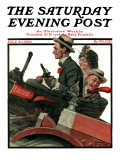 """Excuse My Dust"" Saturday Evening Post Cover, July 31,1920 Reproduction procédé giclée par Norman Rockwell"