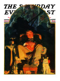 """Dreams"" Saturday Evening Post Cover, February 16,1929 Giclee Print by Norman Rockwell"