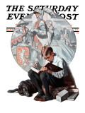 """Age of Romance"" Saturday Evening Post Cover, November 10,1923 Giclee Print by Norman Rockwell"