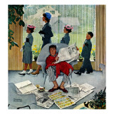 """Sunday Morning"", May 16,1959 Giclee Print by Norman Rockwell"