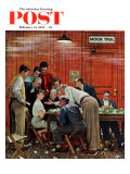 """""""Jury"""" or """"Holdout"""" Saturday Evening Post Cover, February 14,1959 Giclee-trykk av Norman Rockwell"""