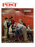 Júri, Jury ou Holdout, capa do Saturday Evening Post, 14 de fevereiro de 1959 Impressão giclée por Norman Rockwell
