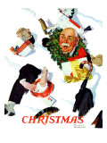 """White Christmas"", December 25,1937 Giclee Print by Norman Rockwell"