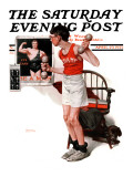 """Champ"" or ""Be a Man"" Saturday Evening Post Cover, April 29,1922 Reproduction procédé giclée par Norman Rockwell"