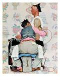 "Tatuerare, ""Tattoo Artist"", 4 mars 1944 Gicleetryck av Norman Rockwell"