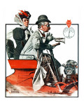 """""""Speeding Along"""", July 19,1924 Impression giclée par Norman Rockwell"""