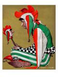 """Jester"", February 11,1939 Impression giclée par Norman Rockwell"