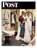 """""""Prom Dress"""" Saturday Evening Post Cover, March 19,1949 Giclée-Druck von Norman Rockwell"""