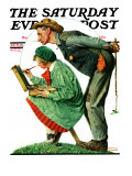 """Hayseed Critic"" Saturday Evening Post Cover, July 21,1928 Giclee Print by Norman Rockwell"