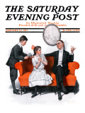 &quot;Shall We Dance&quot; Saturday Evening Post Cover, January 13,1917 Giclee Print by Norman Rockwell
