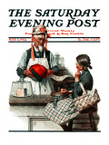"""Thoughtful Shopper"" Saturday Evening Post Cover, May 3,1924 Giclee Print by Norman Rockwell"