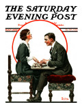 """Ouija Board"" Saturday Evening Post Cover, May 1,1920 Giclee Print by Norman Rockwell"