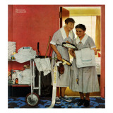 """Just Married"" (hotel maids and confetti), June 29,1957 Giclee Print by Norman Rockwell"