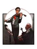 """""""Violin Virtuoso"""", April 28,1923 Reproduction procédé giclée par Norman Rockwell"""