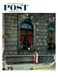 """University Club"" Saturday Evening Post Cover, August 27,1960 Impression giclée par Norman Rockwell"