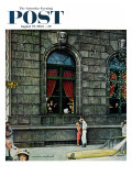 """University Club"" Saturday Evening Post Cover, August 27,1960 Giclee Print by Norman Rockwell"