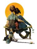 Namoradinhos ou Pôr do sol, 24 de abril de 1926 Impressão giclée por Norman Rockwell