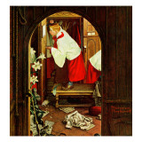 """Choirboy"", April 17,1954 Giclee Print by Norman Rockwell"