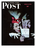 """""""Willie Gillis in a Blackout"""" Saturday Evening Post Cover, June 27,1942 Impression giclée par Norman Rockwell"""