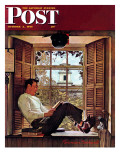 """Willie Gillis in College"" Saturday Evening Post Cover, October 5,1946 Reproduction procédé giclée par Norman Rockwell"