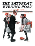 """Pardon Me"" Saturday Evening Post Cover, January 26,1918 Giclee Print by Norman Rockwell"
