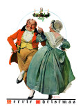 """Christmas Dance"" or ""Merrie Christmas"", December 8,1928 Giclee Print by Norman Rockwell"