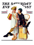 """Spirit of Education"" Saturday Evening Post Cover, April 21,1934 Impression giclée par Norman Rockwell"
