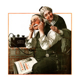 """Wonders of Radio"" or ""Listen, Ma!"", May 20,1922 Giclee Print by Norman Rockwell"