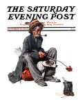 """Hobo"" Saturday Evening Post Cover, October 18,1924 Reproduction procédé giclée par Norman Rockwell"