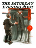 """Boy in Mirror"" or ""Distortion"" Saturday Evening Post Cover, August 13,1921 Giclee Print by Norman Rockwell"
