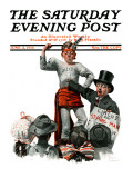 """Circus Strongman"" Saturday Evening Post Cover, June 3,1916 Giclee Print by Norman Rockwell"
