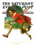 """Wet Paint"" Saturday Evening Post Cover, April 12,1930 Giclee Print by Norman Rockwell"