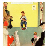 """At the Vets"", March 29,1952 Reproduction procédé giclée par Norman Rockwell"