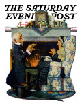 &quot;Tea for Two&quot; or &quot;Tea Time&quot; Saturday Evening Post Cover, October 22,1927 Gicl&#233;e-Druck von Norman Rockwell