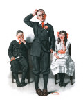 """Recitation"", June 14,1919 Giclee Print by Norman Rockwell"