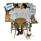 """Artist at Work"", September 16,1961 Giclee Print by Norman Rockwell"