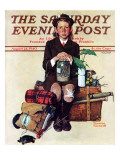 """Home from Camp"" Saturday Evening Post Cover, August 24,1940 Reproduction procédé giclée par Norman Rockwell"