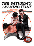"""Palm Reader"" or ""Fortuneteller"" Saturday Evening Post Cover, March 12,1921 Reproduction procédé giclée par Norman Rockwell"