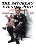 """Portrait"" Saturday Evening Post Cover, July 9,1921 Giclee Print by Norman Rockwell"