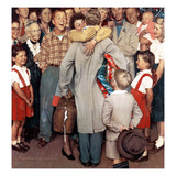 """Christmas Homecoming"", December 25,1948 Giclee Print by Norman Rockwell"