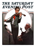 """Violin Virtuoso"" Saturday Evening Post Cover, April 28,1923 Giclee Print by Norman Rockwell"