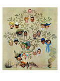 """Family Tree"", October 24,1959 Reproduction procédé giclée par Norman Rockwell"