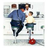 Norman Rockwell - Útěk z domu, 20. září 1958 Digitálně vytištěná reprodukce