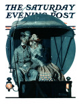 """Moonlight Buggy Ride"" Saturday Evening Post Cover, September 19,1925 Giclee Print by Norman Rockwell"