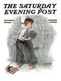 &quot;Redhead Loves Hatti&quot; Saturday Evening Post Cover, September 16,1916 Giclee Print by Norman Rockwell