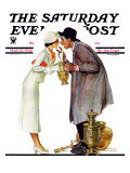 """Bargaining with Antique Dealer"" Saturday Evening Post Cover, May 19,1934 Reproduction procédé giclée par Norman Rockwell"